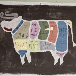 Beef side or quarter, hanging