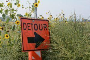 Detours ahead…